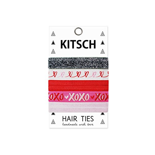 Kitsch 5 Piece Print Hair Ties Set, Crazy In Love