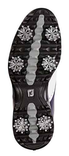 FootJoy Women's eMerge Spiked Golf Shoes, Close-out (7 B(M) US, White/Navy Linen 93900) by FootJoy (Image #3)