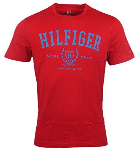 Tommy Hilfiger Mens Classic Fit Logo T-Shirt - L - Red