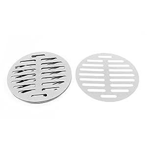 uxcell Kitchen Bathroom Round Floor Drain Drainer Cover 6 Inch 15cm Dia 8Pcs