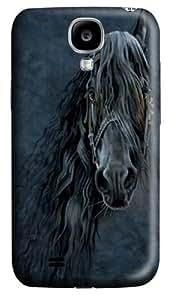 Forever Friesian Horse Custom Samsung Galaxy I9500/Samsung Galaxy S4 Case Cover Polycarbonate 3D