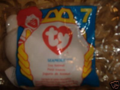 1996 McDonalds TY Seamore The Seal Teenie Beanie Baby # 7 by Ty