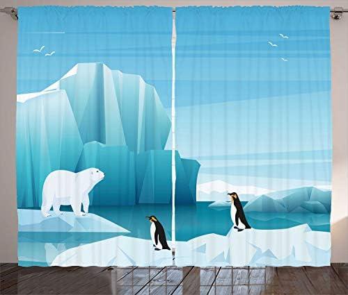 ABAKUHAUS Polo Norte Cortinas, Ártico de Dibujos Animados, Sala de ...