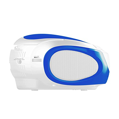 Ematic CD Boom Box with Bluetooth Audio and Speakerphone, Blue by Ematic (Image #1)