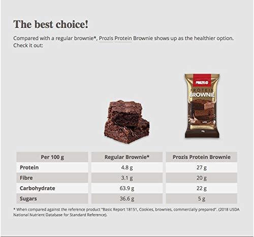 Prozis Protein Brownie 50 g Chocolate-cacahuetes: Amazon.es: Salud y cuidado personal