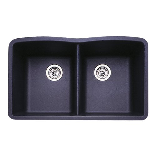 Blanco 511-702 Diamond Equal Double Bowl Kitchen Sink, Anthracite Finish
