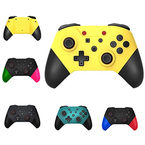 gdfh Wireless Game Controller Switch Pro Full-Featured Bluetooth Gamepad Remote Control Equipped with NFC Function with Wake-Up Handle Grip