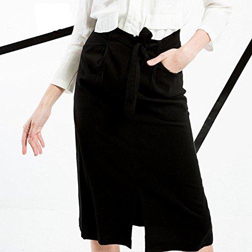 YLSZ-High waisted skirt women's new high waisted black color split,black,L