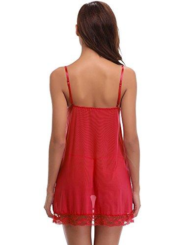 Pièces Chambre Vêtements Pour Du Aibrou De Nuit Sangle Foncé Avec La Satin Robe style Rouge Élégante Détente 2 Kimono Femmes Longue Soir Les TxqwwvCE