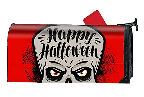 (Halloween Greeting Card - Mailbox Makeover Cover - Vinyl with Magnetic Strips for Steel Standard Rural)