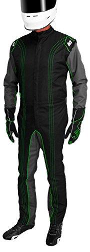 K1 Race Gear CIK/FIA Level 2 Approved Kart Racing Suit (Green, Medium/Large)