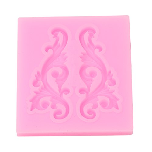 UNKE Curlicues Scroll Lace Fondant Silicone Mold for Sugarcraft Cake Border Decoration3#