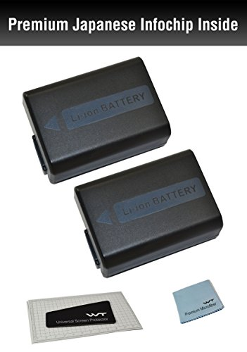 (2Pack) Nixxell Battery for Sony NP-FW50 compatible with Alpha a7,a7 II, a7R,a7R II,a7S,a7S II,a5000,a5100,a6000, a6300, a6500, NEX-5T,Cyber-shot DSC-RX10 III,NEX-6,7,C3,F3,SLT- A35,A37,A55V & more!