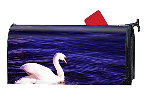 BYUII White Swan's Dream Magnetic Mailbox Covers, Suitable for Spring, Summer, Fall/Autumn and -