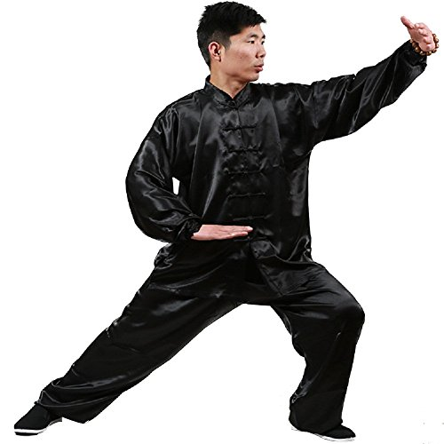 Kung Fu Taichi Shaolin Kung Fu Uniform (Black, Height:63-65in)