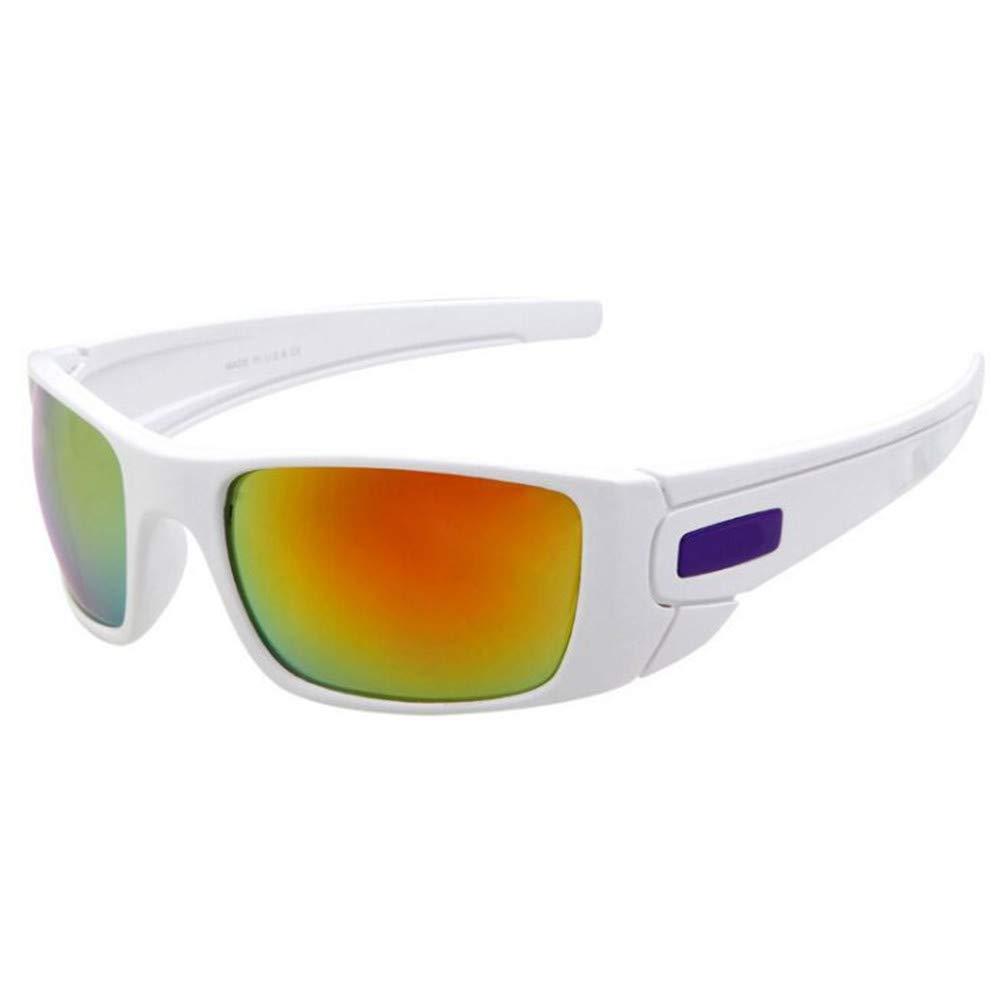 YFFS Sports Sunglasses Cycling Sports Glasses Sunglasses Polarizing Personality Man (Color : White)