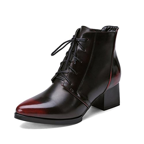8 Boots grey grey Wine Red Women's YL w1qIBB