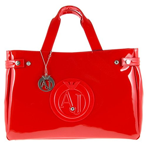 Armani Jeans Large Patent Red