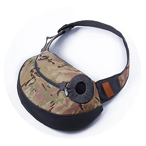 Better With You Camouflage Pet Carrier Carrying Sling Shoulder Bag for Small Dog Puppy Cat Front Carrier Mesh Breathable Comfortable Travel Bag,1,48x28x12cm