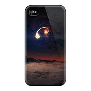 Tpu Case Cover Compatible For Iphone 4/4s/ Hot Case/ Black Hole Scene