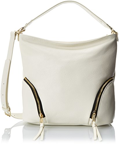 POVERTY FLATS by rian Softy Hobo Shoulder Bag, Cream, One Size (Flats Poverty)