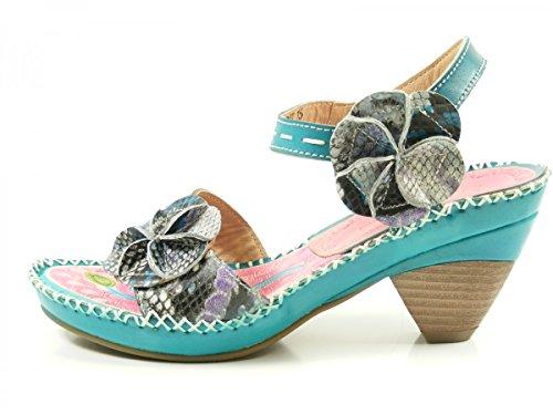 Laura Vita CX083-15 Beignet 15 Sandalias fashion de cuero mujer Türkis