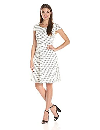 b4a107407d78c Ronni Nicole Women's Dot Circle Lace Fit-and-Flare Lace Dress