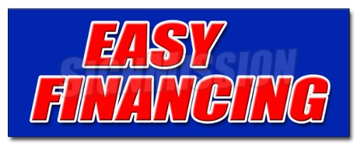"12"" EASY FINANCING DECAL sticker money cash credit finance payment bank"