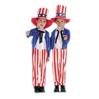 Amazon.com: Child\'s Toddler Uncle Sam Halloween Costume (Size ...