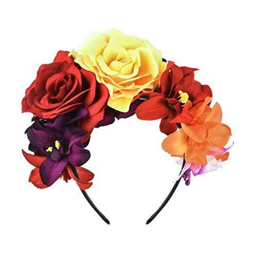 DreamLily Day of The Dead Headband Costume Rose
