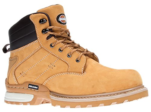 Dickies Mens Steel Toe-Cap Leather Safety Canton Boots 7-11 Honey 4ljOwi