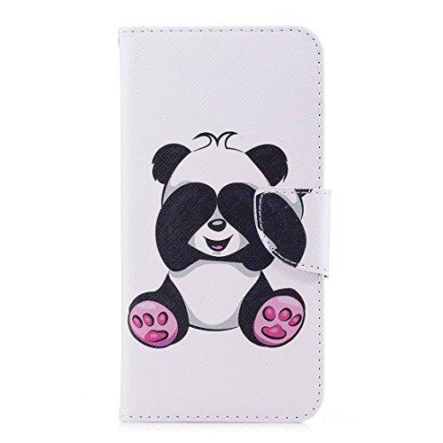 Flip Conception Fente Peint PU Protection Xiaomi Carte Cas avec avec en de aérosol étui magnétique Fermeture Redmi pour Support Hozor d'impression Portefeuille panda Plus en Shy Cuir 5 z6qBzCwx