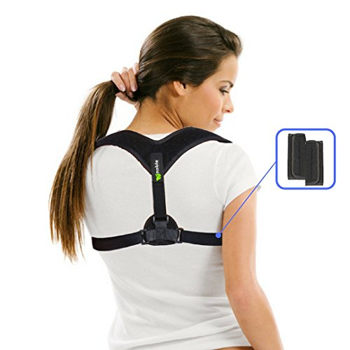 Low Back Pain Poster (Posture Corrector for Women and Men with Extra Padding - Back Brace Support for Back & Shoulder Problems)