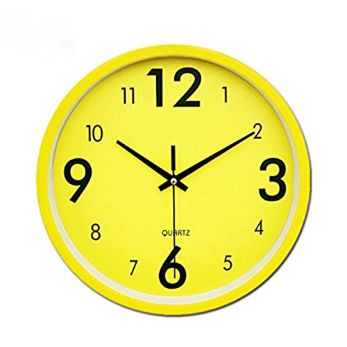 10' Wall Clock (10 Inch Candy Color Silent Non-ticking Wall Clock Battery Operated for Home Indoor Decoration)