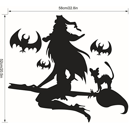 [Bolayu Happy Halloween Wall Sticker Decal Decor Window Home Decoration] (Deluxe Smoke Mask)