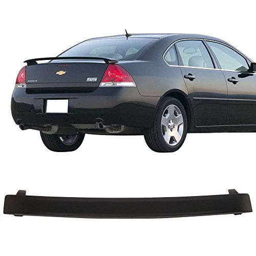 Trunk Spoiler Fits 2006-2013 Chevy Impala SS | ABS Unpainted Trunk Boot Lip Spoiler Wing Add On Deck Lid By IKON MOTORSPORTS | 2007 2008 2009 2010 2011 2012