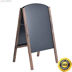 "COLIBROX--40"" Wood A-Frame Chalkboard Sign Menu Board Sidewalk Wedding Signage. best chalkboard menu boards for restaurants. kitchen menu board ideas. chalkboard restaurant menu template."