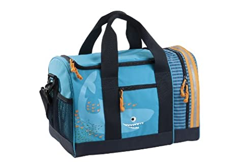 Lassig Kids School Duffle Bag Sports Football Basketball Baseball Swim Duffle Bag Gym Bag, Shark