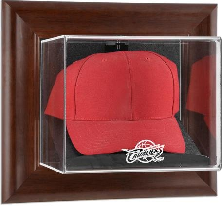 Cleveland Cavaliers Brown Framed Wall Mounted Cap Case