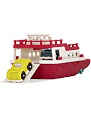 Wonder Wheels by Battat – Ferry Boat – Floating Bath Toy Boat with Cars for Toddlers Age 1 & Up (3 Pc) – 100% Recyclable