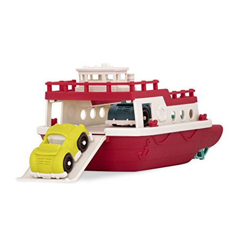 Wonder Wheels by Battat - Ferry Boat - Floating Bath Toy Boat with Cars For Toddlers Age 1 & Up (3 Pc).