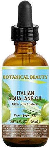 Botanical Beauty Natural Italian Squalane Moisturizer Oil for Face, Body and Hair, 4 fl.oz (120 ml) ()