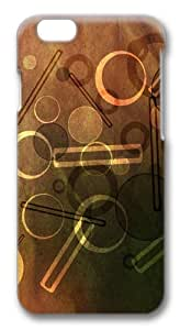 Circles and Bars on paper Polycarbonate Hard Case Cover for iphone 6 plus 5.5 inch 3D