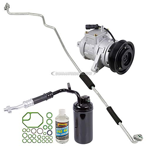 (AC Compressor w/A/C Repair Kit For Jeep Grand Cherokee 1999 2000 2001 - BuyAutoParts 60-80156RK New)