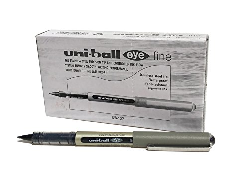 Uni-ball UB-157 Stick Pen Black 12pc(s) (Best Toys Shop In Hyderabad)