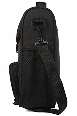 "Crossbody Lunch Bag: InsigniaX Unisex Lunch Box For Work Men Women Teen Boys Girls With Adjustable Strap Handle Front and Side Pocket H: 11.8"" x W: 3.9"" x L: 7.9"""