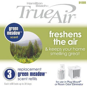 Hamilton Beach Replacement Green Meadow Scent Refills for TrueAir Plug Mount 04531GM and Odor Eliminator 04532GM (04600)