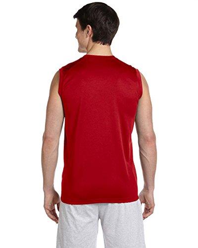 New Balance-T-Shirt SPORT-asymmetrisch-Herren kirschrot