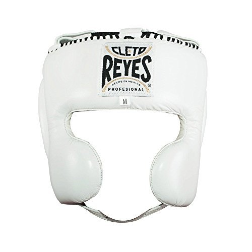 Gloves Boxing Headgear (Cleto Reyes Headgear with Cheek Protection - White M)