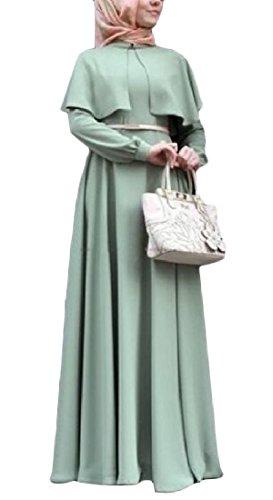 Coolred-femmes Baggy Cru Musulman Crayon Classique Bleu Clair Robe Longue